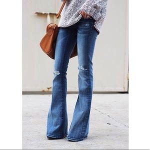 High waist distressed Zara jeans